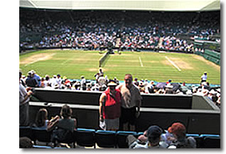 Mr and Mrs J.C enjoy a break in play at Wimbledon 2006